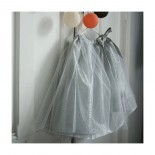 Silver tulle