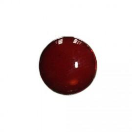 Bouton en métal émaillé rouge