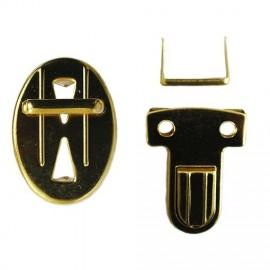 Schoolbag clip gold color