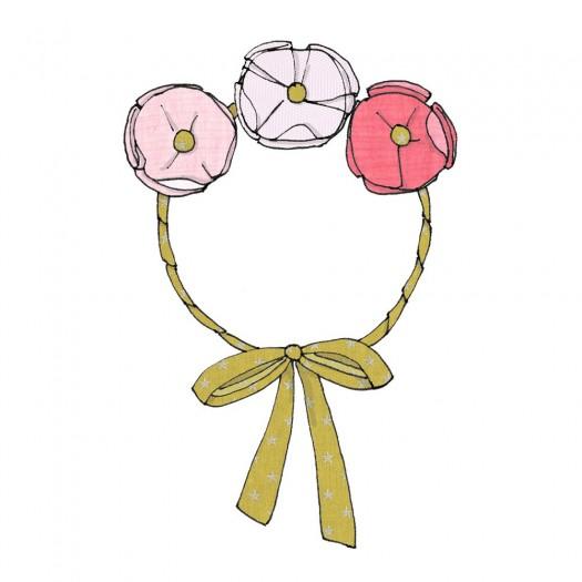 """Tutoriel """"couronne de fleurs"""""""