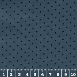 Stormy with black dots glossy coated cambric