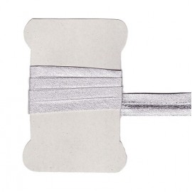 Light silver bias tape
