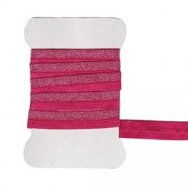 Fushia and silver rubber band