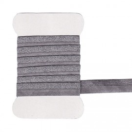 Gray and silver rubber band