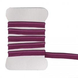 Passepoil élastique prune
