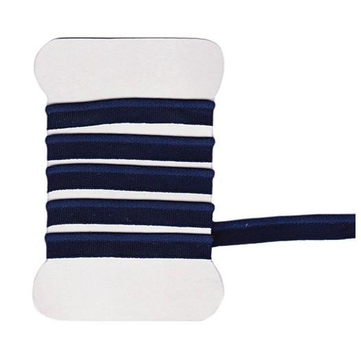 Navy blue elastic piping