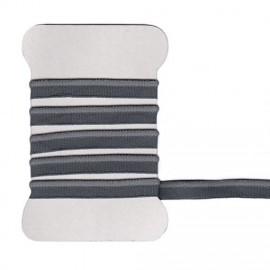 Passepoil élastique gris fer
