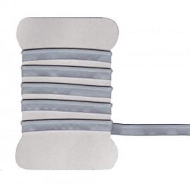 Passepoil élastique satiné gris clair