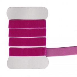 Fushia elastic velvet ribbon