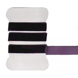 Plum elastic velvet ribbon