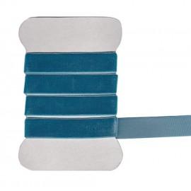 Ruban en velours élastique turquoise 9 mm