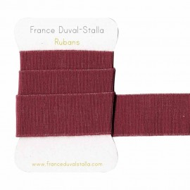 Heather pink and silver lurex elastic 30 mm