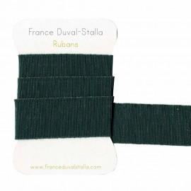 Elastique vert canard lurex argent 30 mm