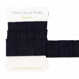 Navy blue and gold lurex elastic 30 mm