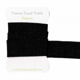 Black and silver lurex elastic 30 mm