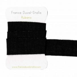 Elastique noir lurex argent 30 mm
