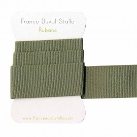 Elastique côtélé vert amande 30 mm
