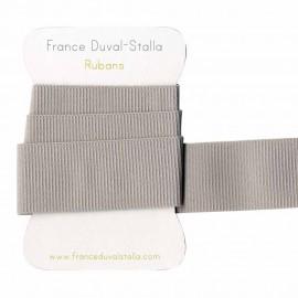 Elastique côtélé gris clair 30 mm