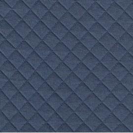 Jersey matelassé bleuet