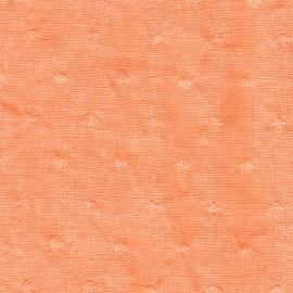Plumetis en lin lavé abricot