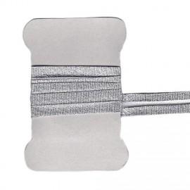 Shiny silver bias tape