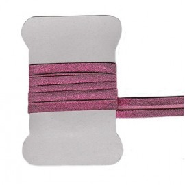 Dark pink metallic bias tape