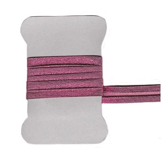 Dark pink metallic bias tape
