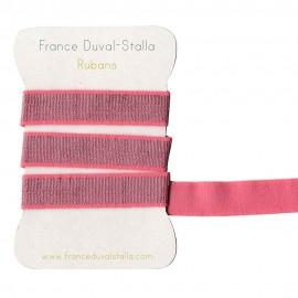 Dark pink and silver lurex elastic 40 mm