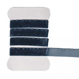 Ruban en velours élastique gris