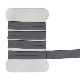 Biais élastique gris