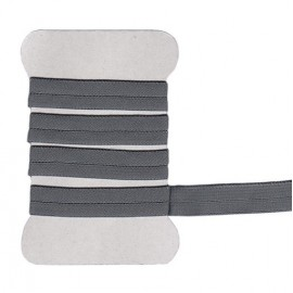 Gray elastic bias tape