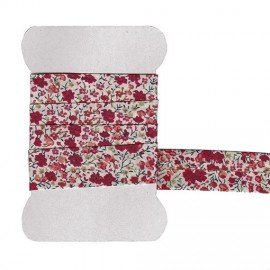 Red Phoebe Liberty bias tape