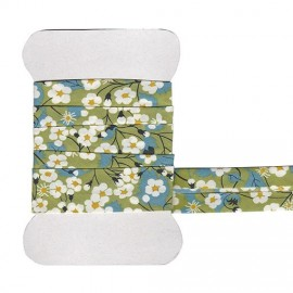 Green Mitsi Liberty bias tape