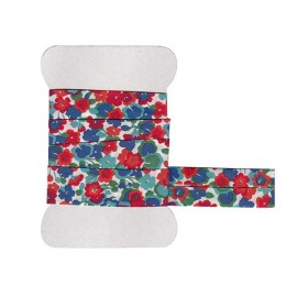 Blue Gleeson Liberty bias tape