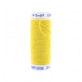 Braided elastic thread Lebaufil for gathering - Yellow