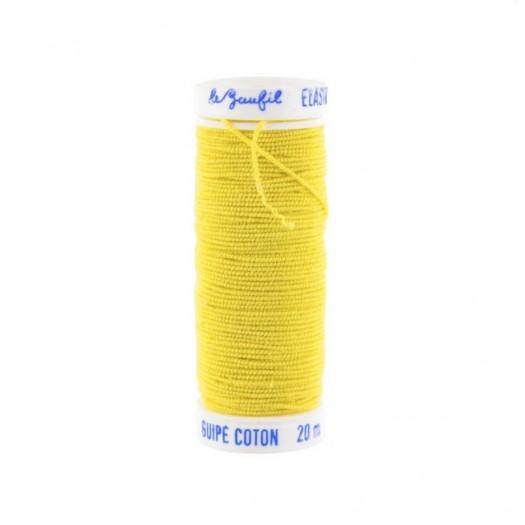 Fil élastique pour fronces jaune Le Beaufil