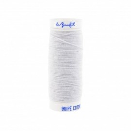 Braided elastic thread Lebaufil for gathering - White