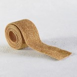 Elastique caramel lurex or 30 mm