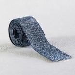 Elastique bleu lurex argent 30 mm