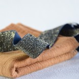 Elastique bleu lurex or 30 mm