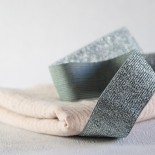 Elastique vert de gris lurex argent 30 mm