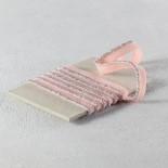Passepoil élastique lurex argent et rose