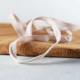 Passepoil élastique velours rose