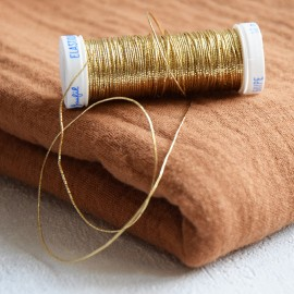 Braided elastic thread Lebaufil for gathering - Gold