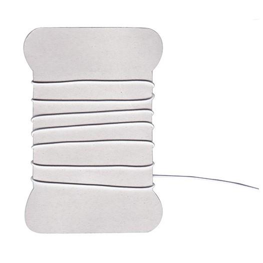 Cordon élastique blanc - 1 mm