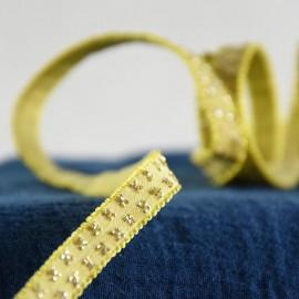 Banana with golden butterflies elastic 9 mm