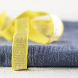 Elastique banane et lurex argent en 20 mm