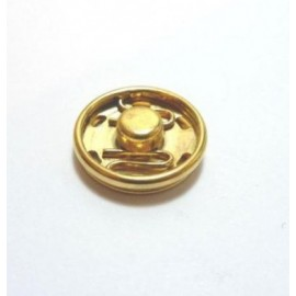 Golden metal snap fasteners