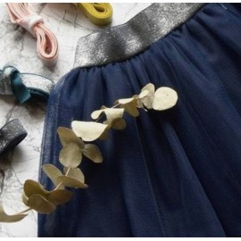 Soft navy blue tulle
