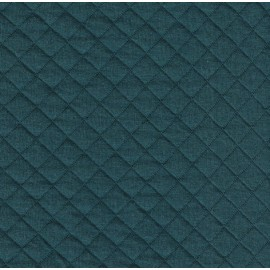 Midnight green quilted jersey